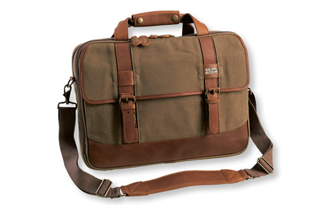 L.L. Bean Maine Guide Waxed Canvas Briefcase
