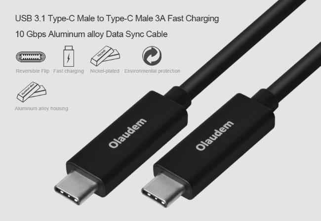 Olaudem USB-C 3.1-USB-C 3.1 gen 2 (10Gbps)